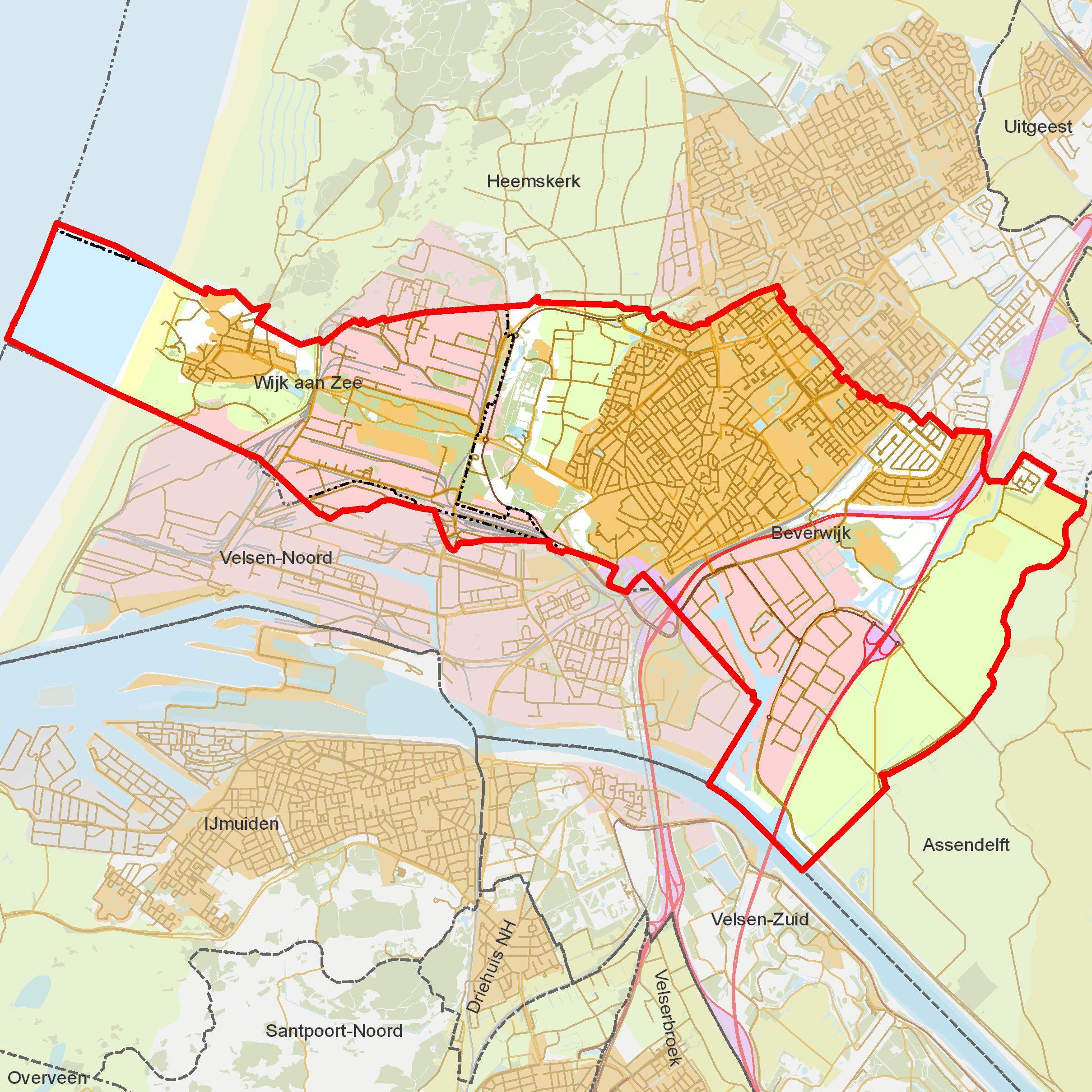 Beverwijk-buurt-kaart
